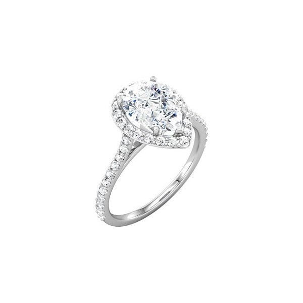 18kt white gold engagement ring (price does not include center stone)