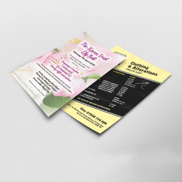 Creative Designed Personalised Leaflets And Flyers for Businesses, Personal, Advertising And Promotions