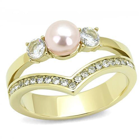 Pearl-Pink Attached Chevron Band