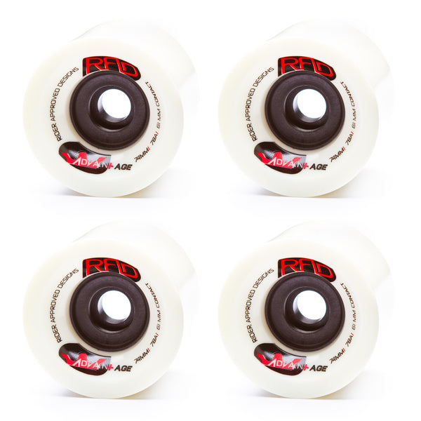 RAD 74mm Advantage 78a White - Performance Longboarding - FREE SHIPPING!