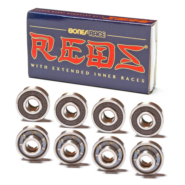 Bones Race Reds Bearings - Performance Longboarding - FREE SHIPPING!