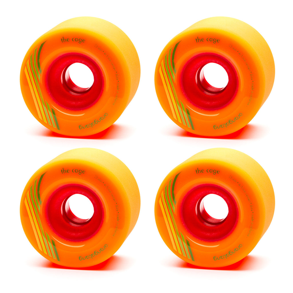 Orangatang 73mm The Cage 80a Orange - Performance Longboarding - FREE SHIPPING!