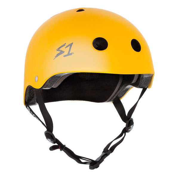 S1 Lifer Helmet Matte Yellow - Performance Longboarding - FREE SHIPPING!