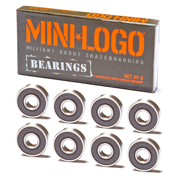 Mini Logo Bearings - Performance Longboarding - FREE SHIPPING!