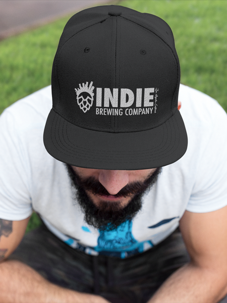 Indie Brewing Company Black Brand Logo Hat