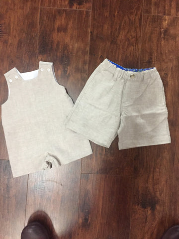 Bailey Boys Flax Linen Boys Shorts