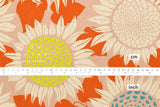 Cotton + Steel Front Yard canvas - sunflowers - pink - 50cm