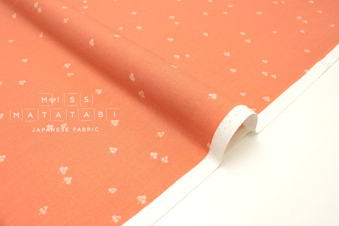 Japanese Fabric Cotton + Steel Basics - Clover and Over - peachy - fat quarter