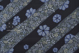 Japanese Fabric Kasuri Four Seasons Kasuri Kamon dobby - blue - 50cm