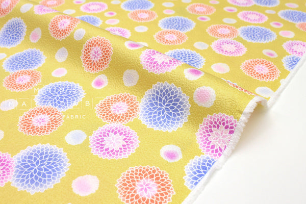 Japanese Fabric Spring Blooms - yellow - 50cm