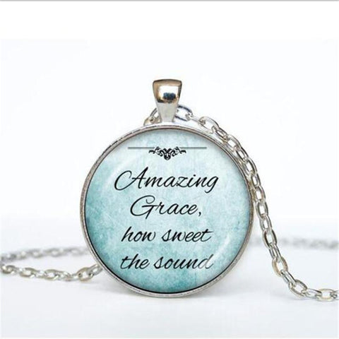 Amazing Christian Inspirational Bible Verses Pendant Necklaces