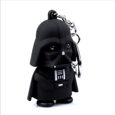 Mini LED  Darth Vader star war Anakin Skywalker figure Flashlight keychain