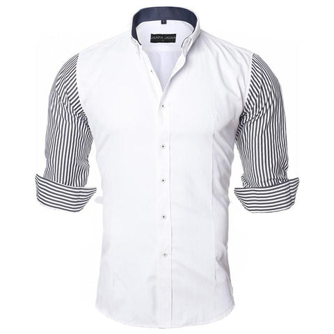 New Arrivals Fashion European-Style Long-Sleeved Cotton Casual Men's Slim-Fit shirt