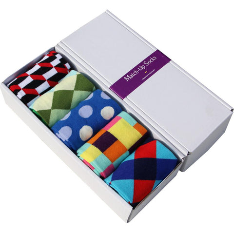 Combed Cotton Brand Men Colorful, Dress Socks (5 pairs / lot )