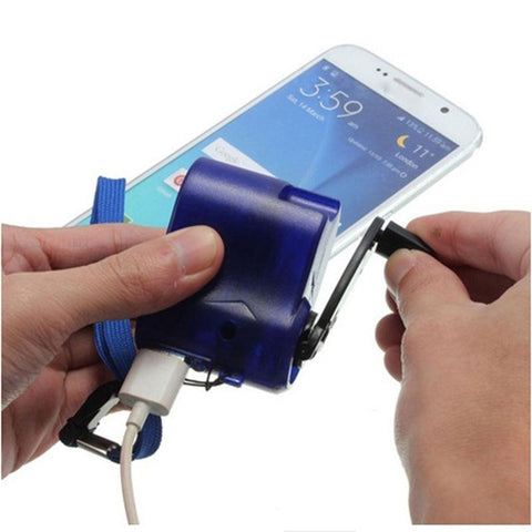 Hand Crank Emergency Portable Power Supply Mobile Phone Charger