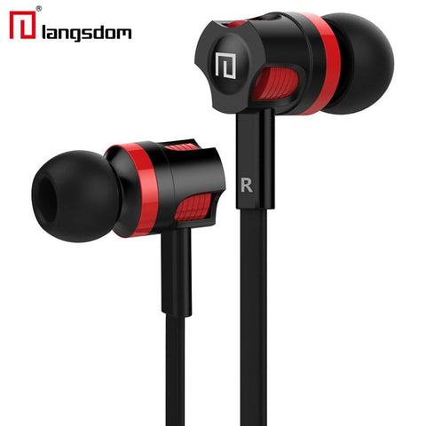 Original Langsdom JM26 Stereo Earphone Bass Earbuds Headphone Headsets  with mic