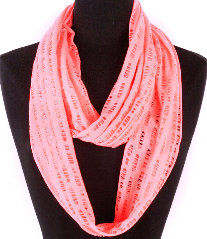 Bright Coral Spring Breeze Infinity Scarf