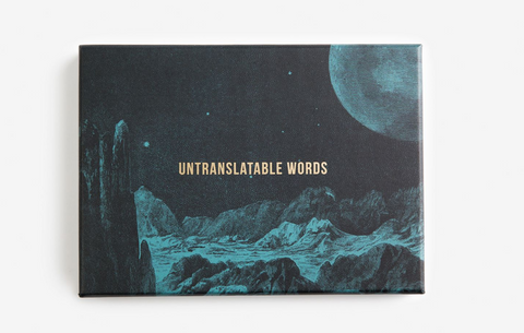 Untranslatable Words Cards