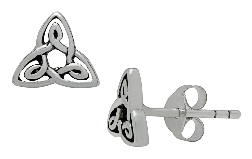 SS17 - Silver Trinity Knot Petite Studs Earrings Symbology at Enchanted Jewelry & Gifts