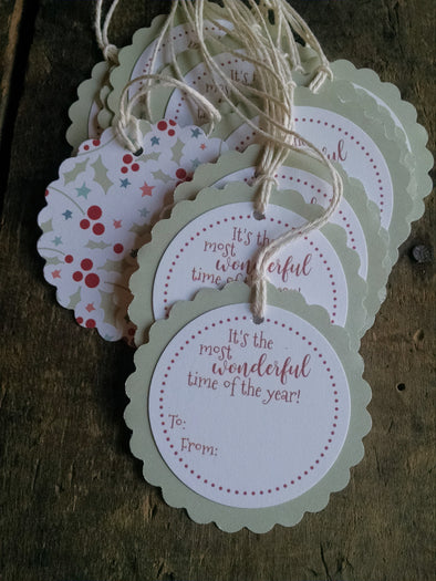 Holly Berries Gift Tags - Coffee Stained Tag Company