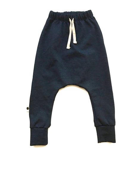 York harem drawstring pants blue