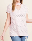 """Julie"" Polka Dot Top"