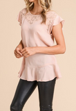 """Lexi"" Lace Yoke Top"