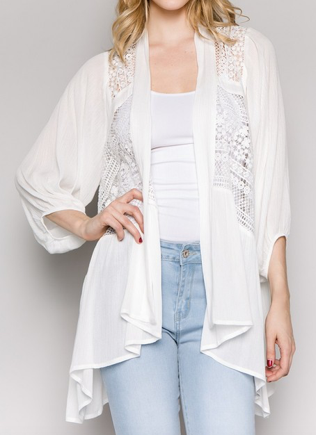 """Michelle"" Lace Cardigan"