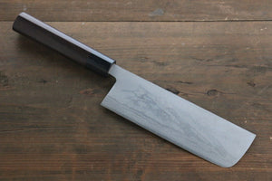 Kanetsune White Steel No.2 11 Layer Damascus Nakiri Japanese Chef Knife 165mm Shitan rosewood Handle