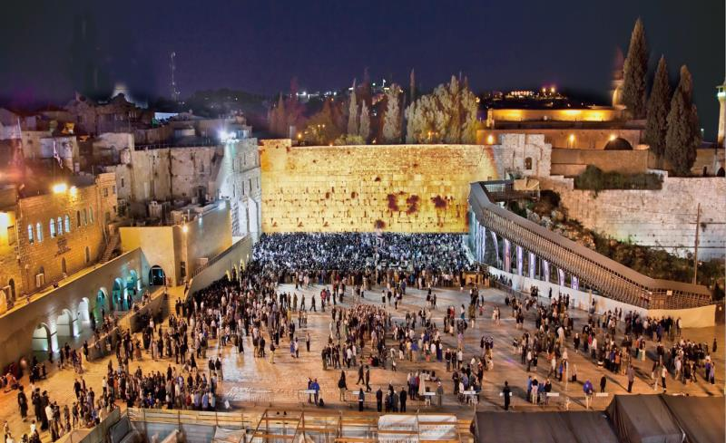 NEW Banner poster on canvas 300x150cm Birkat Kohanim at The Kotel - decorations - Sukkahmart South Africa