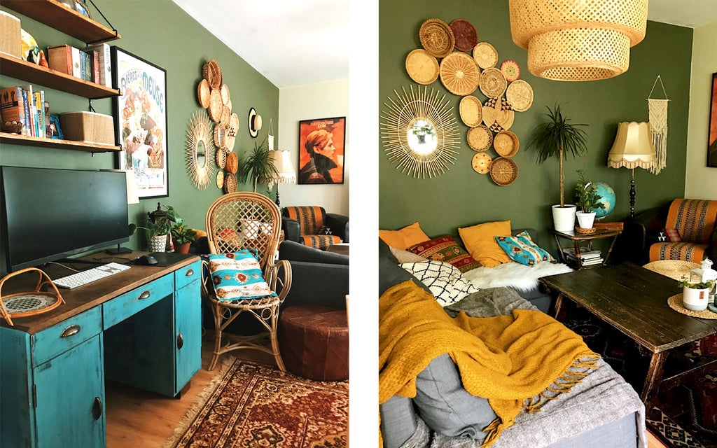 House Tour - Eclectic boho apartment details | The Inkabilly Blog