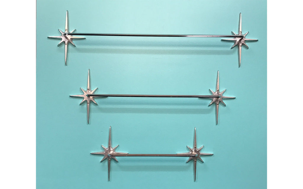 Atomic Starburst Towel Rails by Vintage Revival Art Co. The Inkabilly Blog