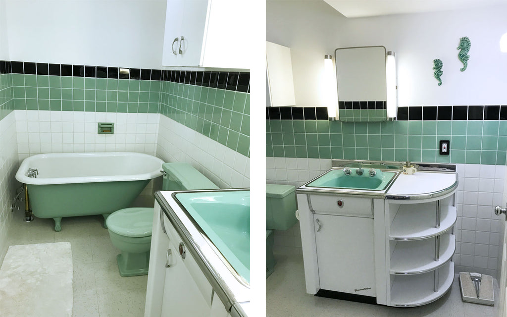Jason's restored mid century bathroom. The Inkabilly Blog
