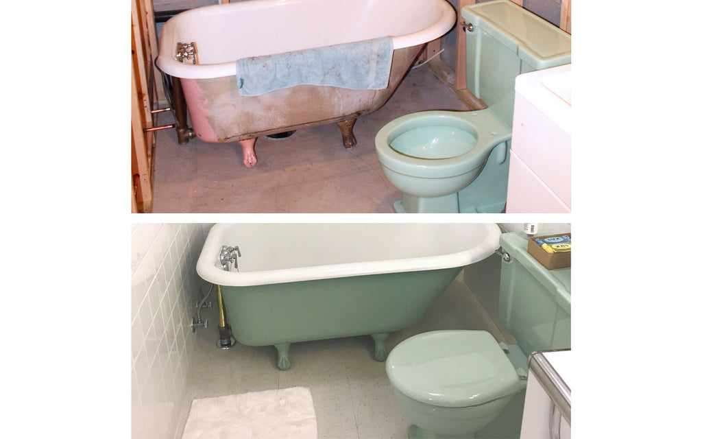 Restoring a 1950s bathroom. The Inkabilly Blog