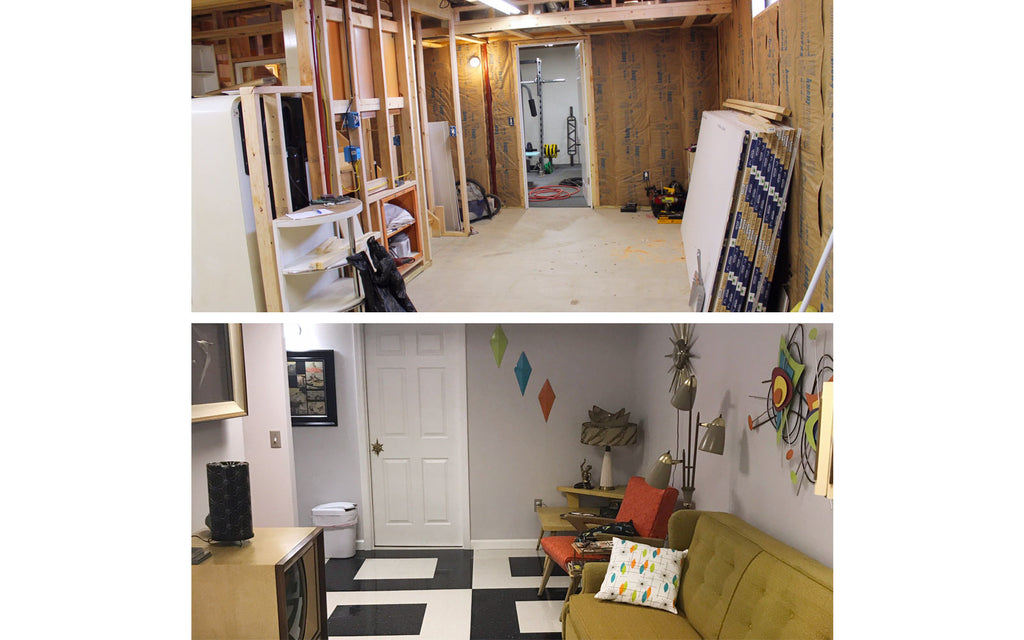 Building the mid century getaway - before and after shots. The Inkabilly Blog