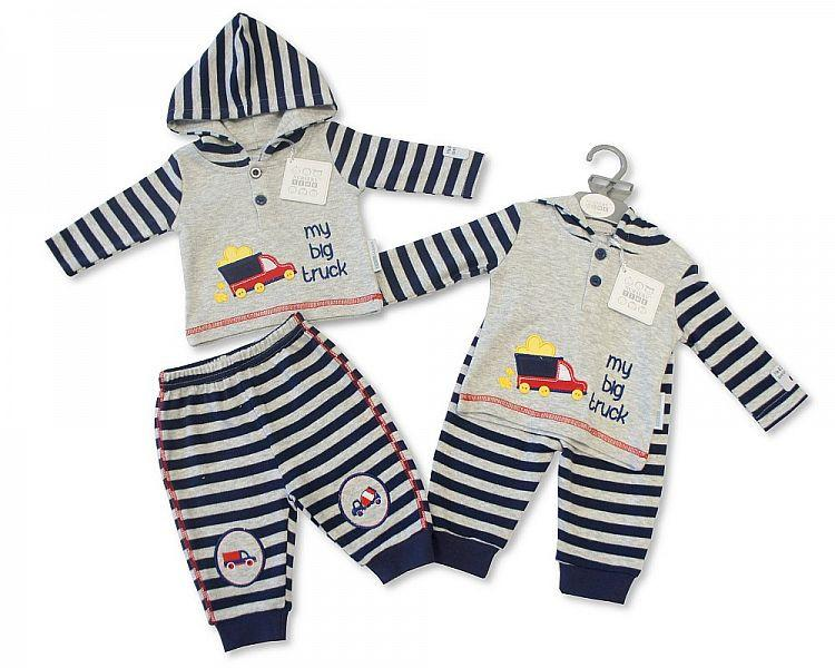 Baby Boys 2 pcs Hooded Set - Truck (Bis 2026-1745)