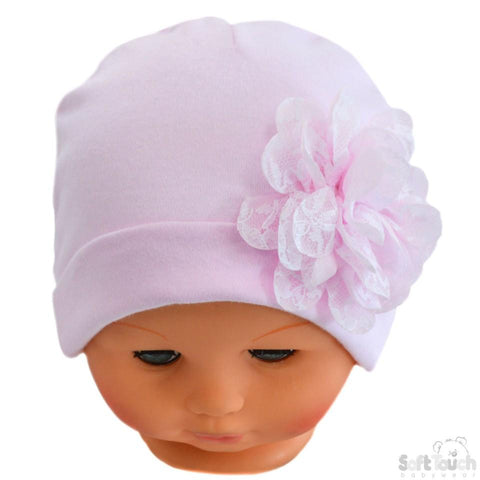 Baby Girls Flower Print Cloche With Chin Strap (6-18 Months) 0269