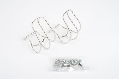 MKS half stainless steel toe clip set in size L