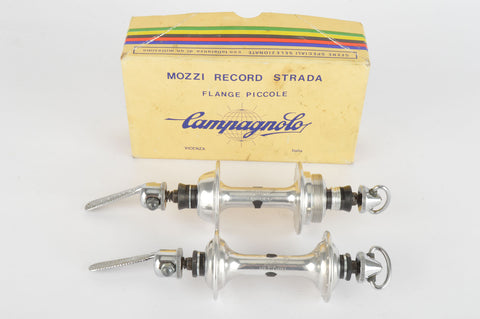 NOS/NIB Campagnolo Record Strada #1034 Low Flange Hub Set, with 28 holes and italian thread