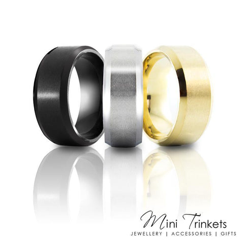 6mm Titanium Brushed Ring