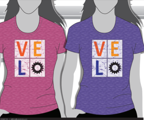 T-Shirt - Ladies VELO Brand Tee
