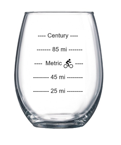 WWCycling Wine Glass - front