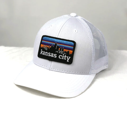 KC SKYLINE trucker hat - WHITE