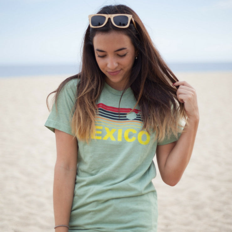 Mexico Sun T-Shirt Green(Unisex)