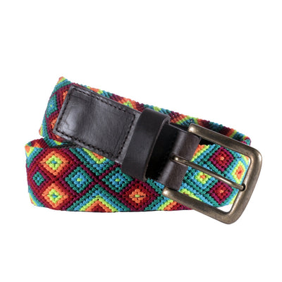 Chiapas Woven Belts- Sunset Red