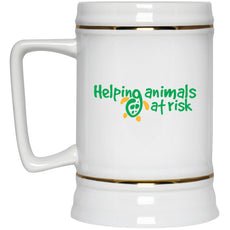 "Accessories - ""Helping Animals At Risk"" Turtle Beer Stein - 22 Oz"