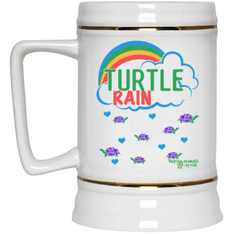 "Accessories - ""Turtle Rain"" Turtle Beer Stein - 22 Oz"