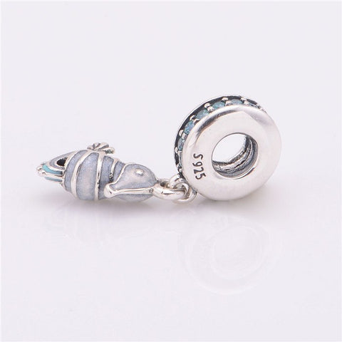 Beads - Animal Sterling Silver Sea Horse Bead