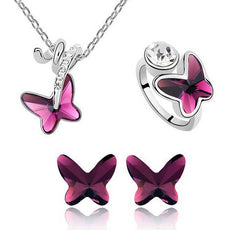 Jewelry Set - Rhinestone Butterfly Set