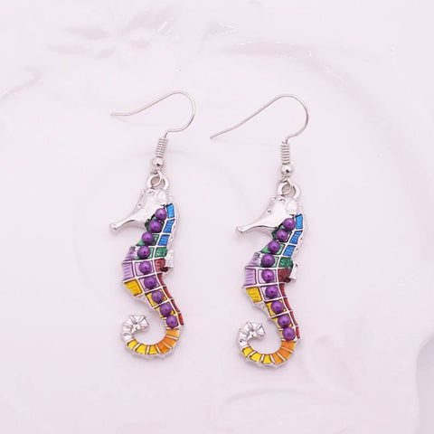Jewelry Set - Seahorse Necklace And Earrings Set